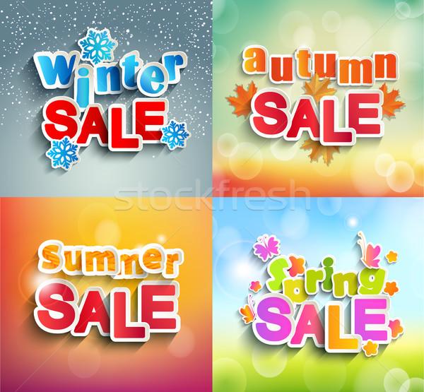 Seasonal sale frame. Stock photo © tandaV