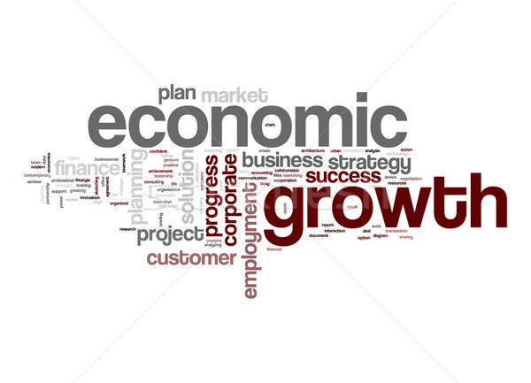Economic growth word cloud Stock photo © tang90246