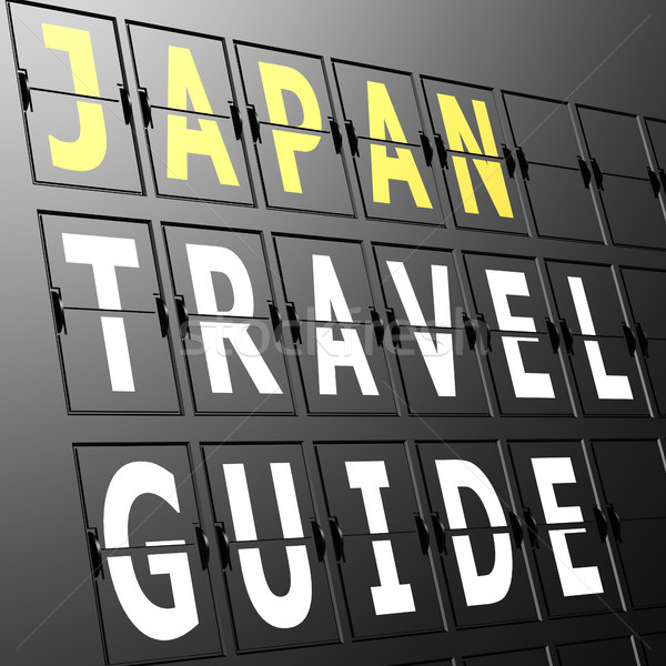 Airport display Japan travel guide Stock photo © tang90246