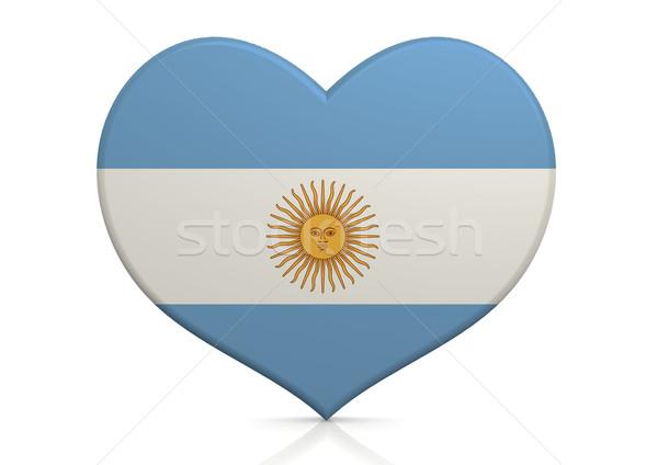 Argentinië hart achtergrond reizen land concept Stockfoto © tang90246