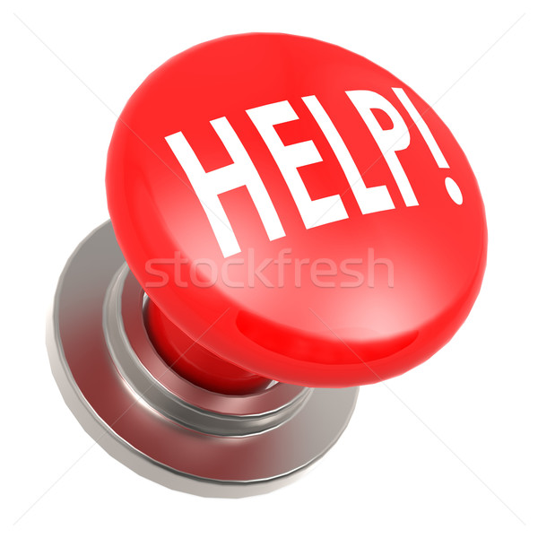 Red help button Stock photo © tang90246