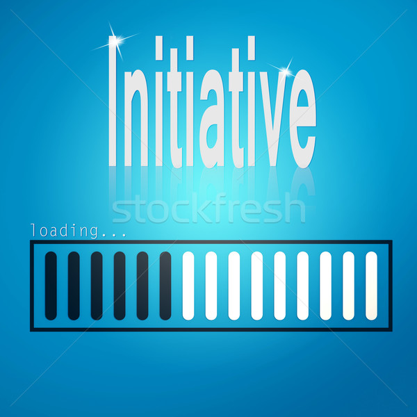 Initiative blue loading bar Stock photo © tang90246