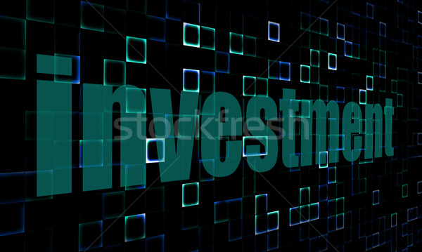 Pixelated words investment on digital background Stock photo © tang90246