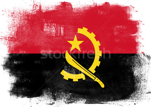 Flag of Angola painted with brush Stock photo © tang90246