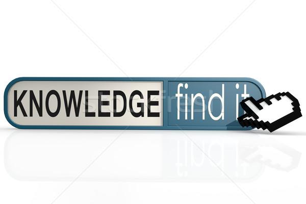 Conoscenza parola blu trovare banner immagine Foto d'archivio © tang90246