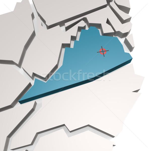Виргиния карта бизнеса стране Америки США Сток-фото © tang90246