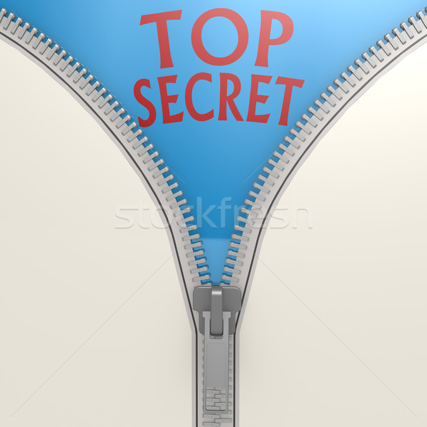 Isolated zipper with top secret Stock photo © tang90246