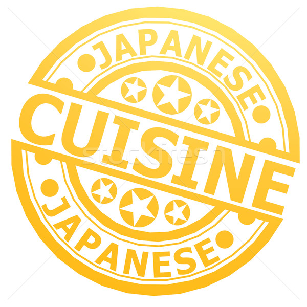 Japanese cuisine stamp Stock photo © tang90246