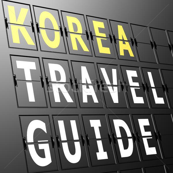 Airport display Korea travel guide Stock photo © tang90246