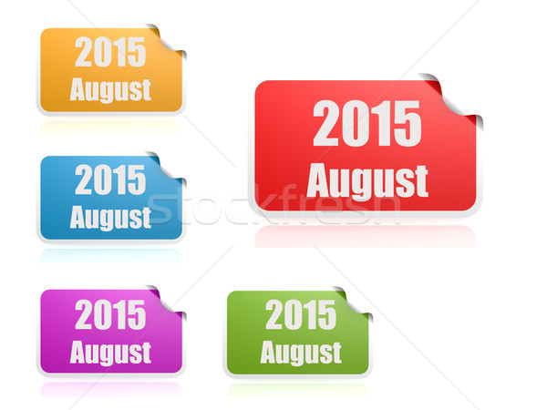 August of 2015 Stock photo © tang90246