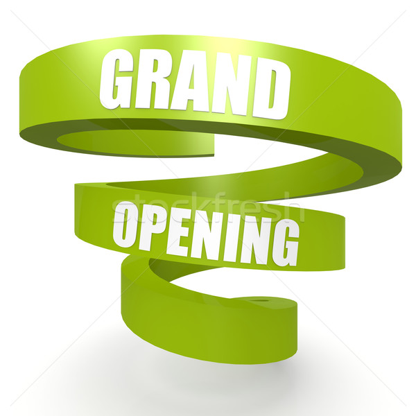 Grand opening green helix banner Stock photo © tang90246