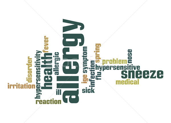 Allergy word cloud Stock photo © tang90246