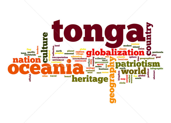 Tonga word cloud Stock photo © tang90246