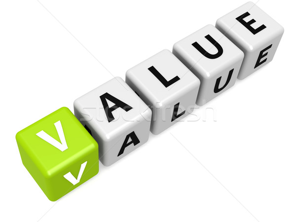 Green value buzzword Stock photo © tang90246