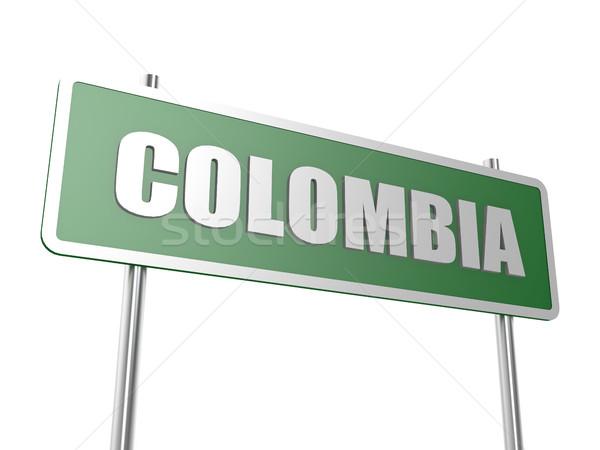 Colombia kép renderelt mű használt grafikai tervezés Stock fotó © tang90246