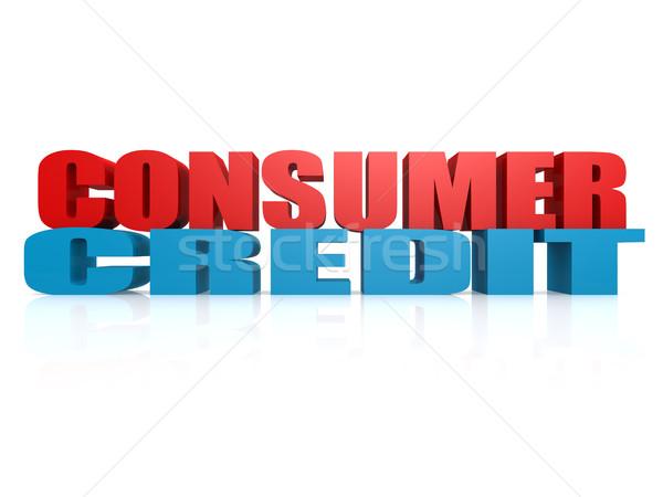 Tüketici kredi görüntü render kullanılmış Stok fotoğraf © tang90246