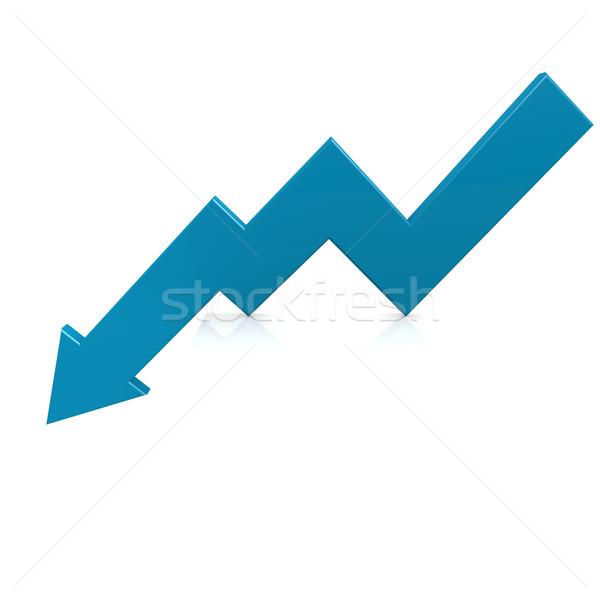 Crisis arrow blue Stock photo © tang90246