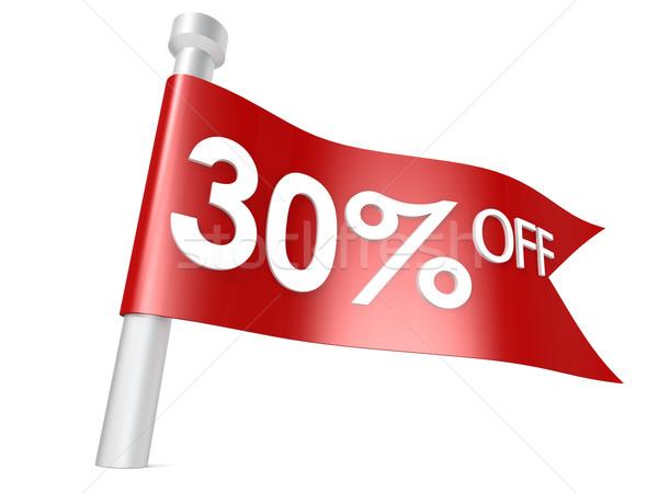30 por cento assinar vermelho mercado Foto stock © tang90246