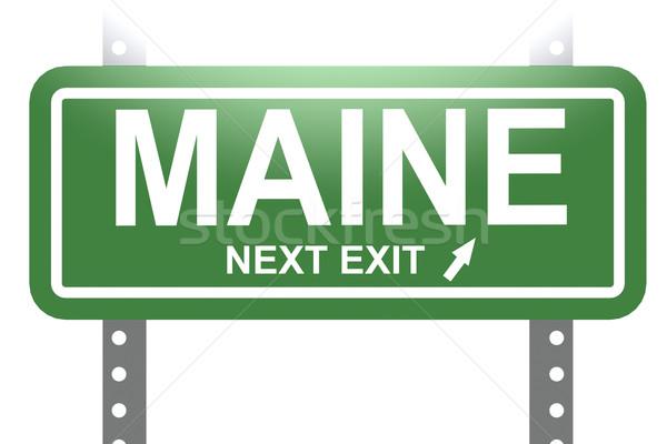 Maine verde segno bordo isolato immagine Foto d'archivio © tang90246
