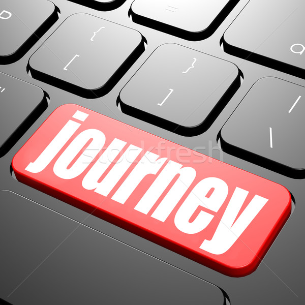 Keyboard with journey text Stock photo © tang90246