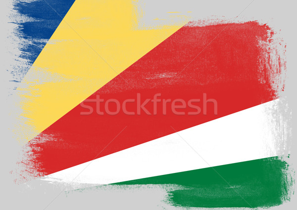 Flag of Seychelles painted with brush Stock photo © tang90246