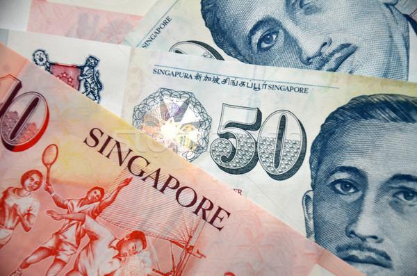Detail of Singapore banknotes Stock photo © tang90246