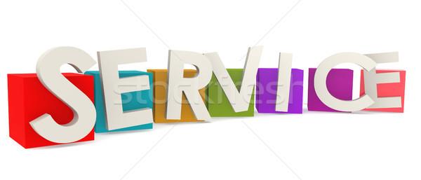 カラフル キューブ サービス 言葉 3D レンダリング ストックフォト © tang90246