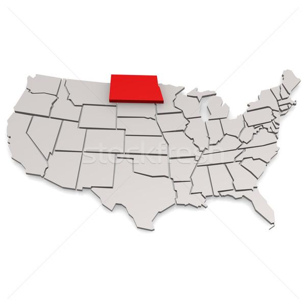 Dakota del Norte mapa viaje EUA frontera turismo Foto stock © tang90246