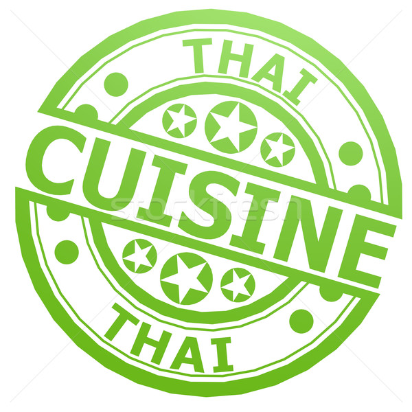 тайский кухня штампа изображение оказанный Сток-фото © tang90246