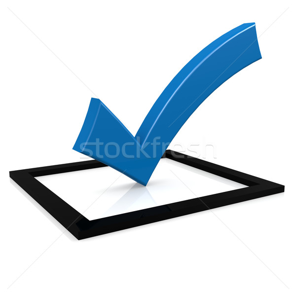 Blue tick Stock photo © tang90246