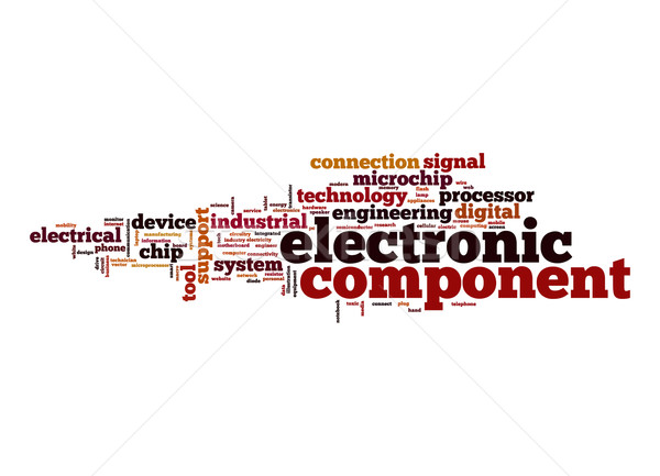 Electronic component word cloud Stock photo © tang90246