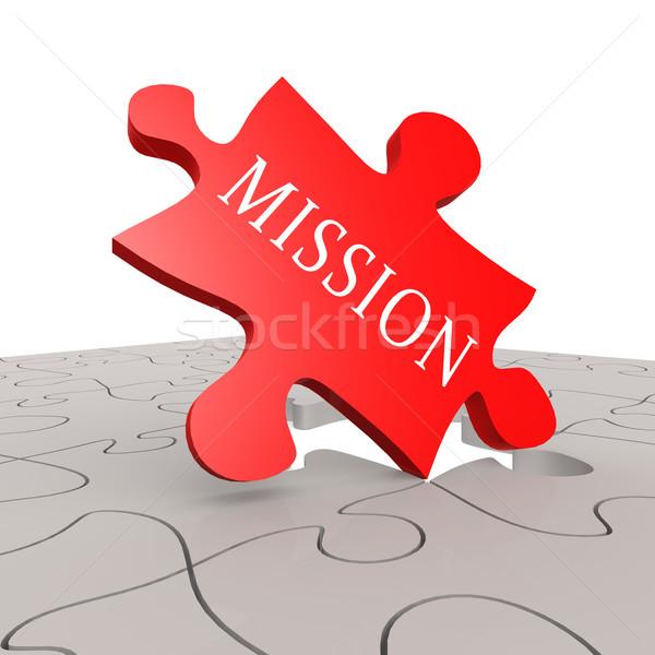 Missão quebra-cabeça sucesso companhia plano meta Foto stock © tang90246