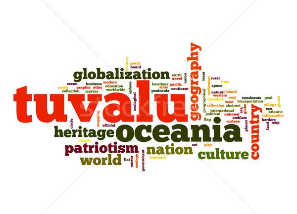 Tuvalu word cloud Stock photo © tang90246
