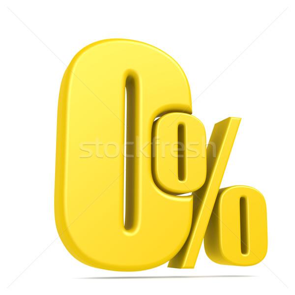 Stock photo: Zero percent
