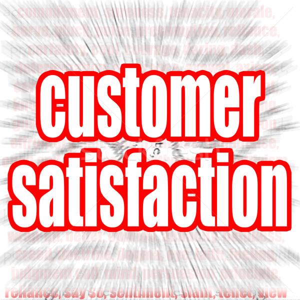Satisfação do cliente palavra imagem prestados usado Foto stock © tang90246