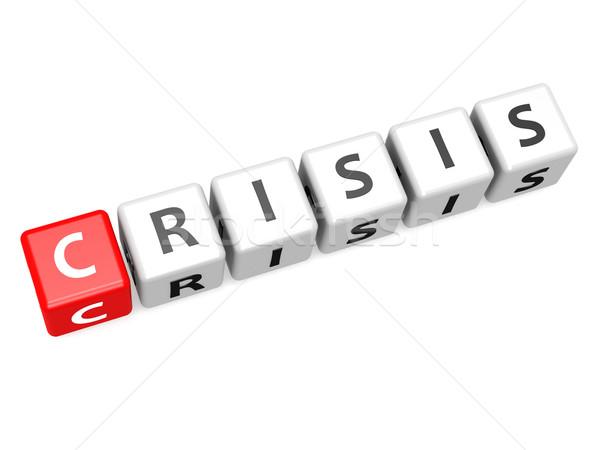 Crisis crossword Stock photo © tang90246