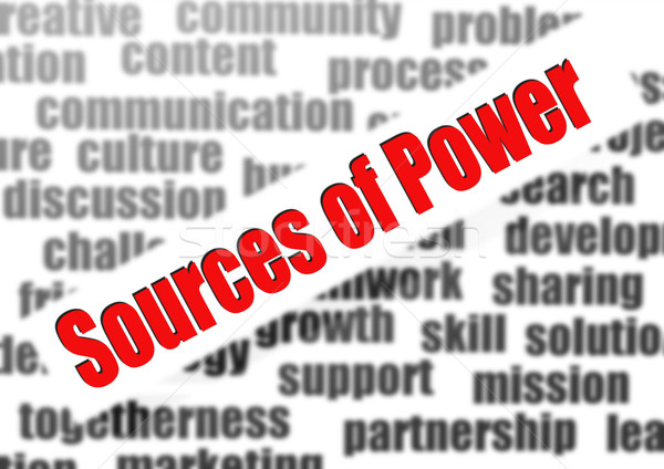 Sources of Power Stock photo © tang90246