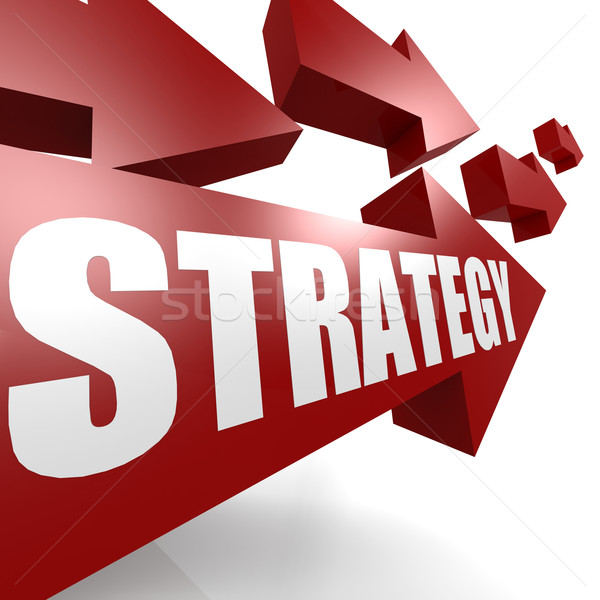 Strategy arrow in red Stock photo © tang90246