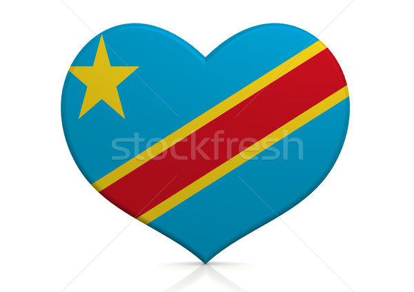 Demokratik cumhuriyet Kongo kalp arka plan seyahat Stok fotoğraf © tang90246