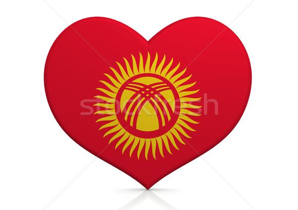 Kırgızistan kalp arka plan seyahat ülke kavram Stok fotoğraf © tang90246
