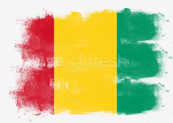 флаг Гвинея окрашенный щетка твердый аннотация Сток-фото © tang90246