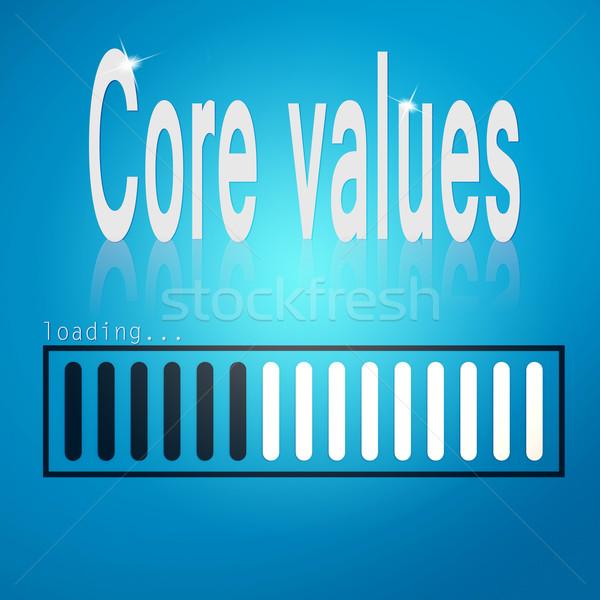 コア 価値観 青 バー 画像 レンダリング ストックフォト © tang90246