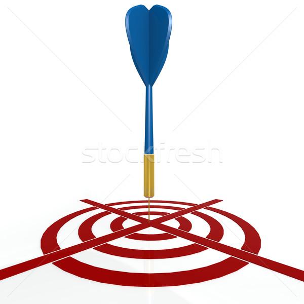 Dardo bordo azul objetivo ganador números Foto stock © tang90246