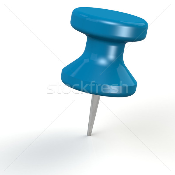 Blue thumb pin Stock photo © tang90246
