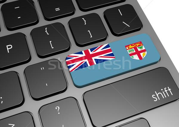 Fiji tastiera immagine reso usato Foto d'archivio © tang90246