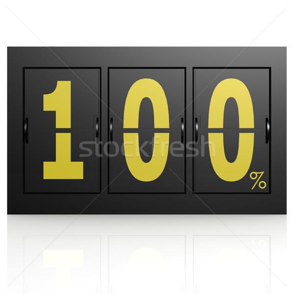 Repülőtér kirakat tábla 100 százalék felirat Stock fotó © tang90246