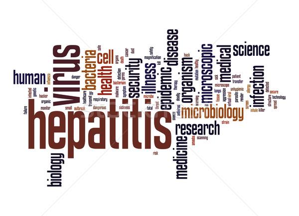 Hepatitis virus word cloud Stock photo © tang90246