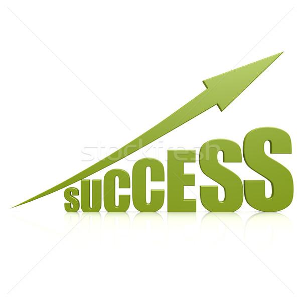 Сток-фото: успех · зеленый · стрелка · аннотация · дизайна · фон