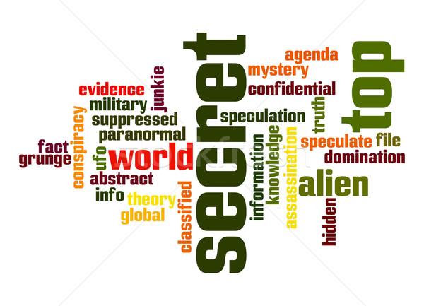 Top secret word cloud Stock photo © tang90246