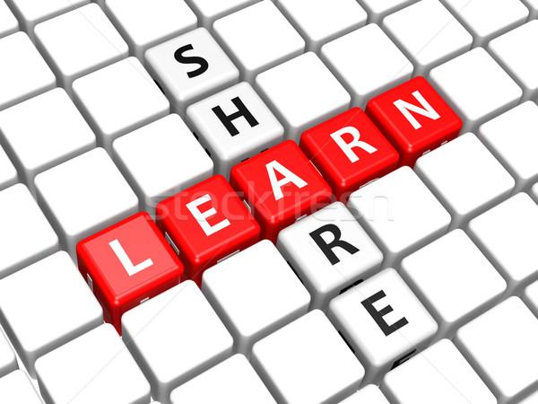 Stock photo: Learn share